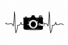 Camera in Heartbeat (SVG Cut file) by Creative Fabrica Crafts · Creative Fabrica - Graphics Design Infographic Camera Logo, Camera Art, Camera Icon, Camera Tattoo Design, Camera Tattoos, Logo Foto, Photo Logo, Dont Touch My Phone Wallpapers, Camera Wallpaper