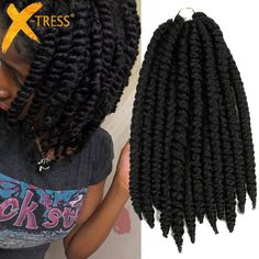 Mambo Twist Crochet Braids 12 Synthetic Twist Hair Crochet Braid Hair ...