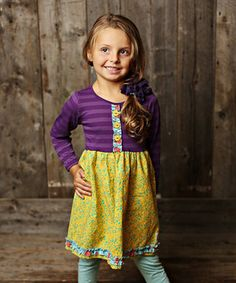 This Açaí Purple Stripe Mya Dress - Infant, Toddler & Girls by Swanky Baby Vintage is perfect! #zulilyfinds