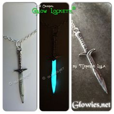 Bilbos sword sting, glows blue when orcs are near! Or if you wear it in sunlight and then go in a dark cave too!~ Makes a great gift for fantasy fans or LOTR lovers!
