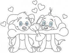 Verliefde hondjes