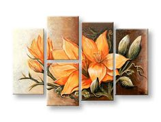 Multiple Canvas Paintings, Abstract Paintings, Diy Canvas, Canvas Wall Art, Lotus Flower Art, Pencil Art Drawings, Painting Lessons, Creative Art, Family Wall Decor