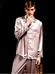 3cfe240d3a silk pajamas for men Suede Rose Silk Pajamas For Men