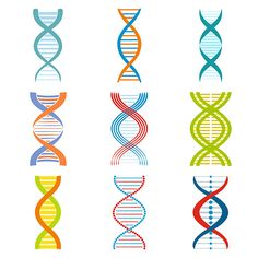 DNA and molecule symbols set by Juliars on @creativemarket
