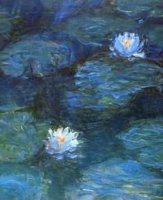 Water lilies by Claude Monet, painting, came from his home in giverny. Monet Paintings, Landscape Paintings, Van Gogh Paintings, Abstract Paintings, Contemporary Paintings, Impressionist Art, Famous Impressionist Paintings, Paintings Famous, Indian Paintings
