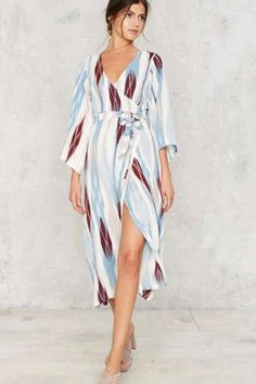 Foine Line Wrap Dress