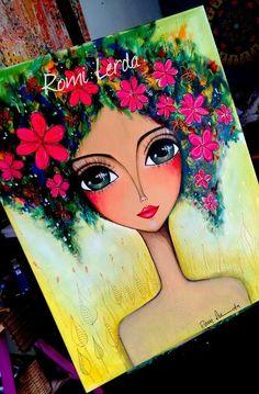 Contemporary Art For Kids Art And Illustration, Indian Art Paintings, Eye Art, Art Drawings Sketches, Whimsical Art, Art Plastique, Mosaic Art, Art Girl, Amazing Art