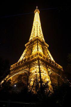 Eiffel Tower, Moon, Paris, France