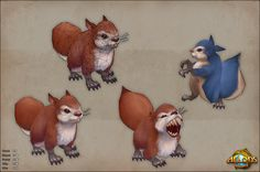 To All The Squirrels I've Loved Before (c) WoW Low poly, furry teeth ) Allods Online ingame artwork - Polycount Forum