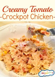 Fire Roasted Tomato Creamy Crock Pot Chicken. - foodandsome