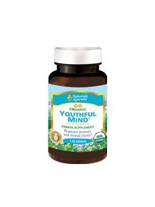 Organic Youthful Mind contains the herb for memory to help remove toxins that can block your mental abilities and promotes a healthy response to mental stress — regardless of age. The herbs in Organic Youthful Mind support: the innate learning ability, clarity and recall, mental energy and alertness levels, the growth of consciousness and full mental potential.