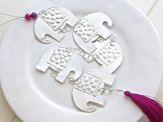 Ethnic Boho Style, Hanging Elephant Decor, Metal Garland on Etsy, $22.16
