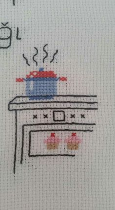 This Pin was discovered by Fil Wool Embroidery, Needlepoint Designs, Craft Stick Crafts, Plastic Canvas, Cross Stitching, Cross Stitch Patterns, Quilts, Handmade, Coffee Pics