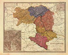 Die Verwaltungsgliederung der Steiermark in Kreise 1855