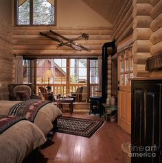 Cabin Style Bedroom Interior Why Not 4 Home Interior