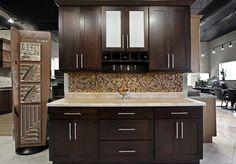 Stock Kitchen Cabinets - Shaker, espresso finish, shaker framed Cabinets