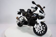 New Ride on Toy Licensed Bmw Motorcycle 12v Battery 2 Motors, Rubber Eva Tires, Key.