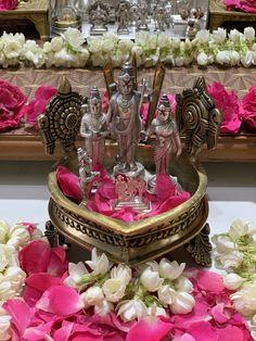 Baby Krishna, Krishna Radha, Lord Krishna, Diy Diwali Decorations, Festival Decorations, Hanuman Pics, Mandir Decoration, Rama Sita, Silver Pooja Items