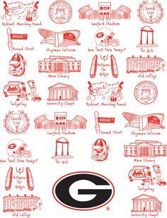 University of Georgia Tea Towel