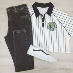 Korean Outfits, Retro Outfits, Stylish Outfits, Cool Outfits, Tomboy Fashion, Fashion Outfits, Summer Outfits For Teens, Barbie, Weekend Outfit