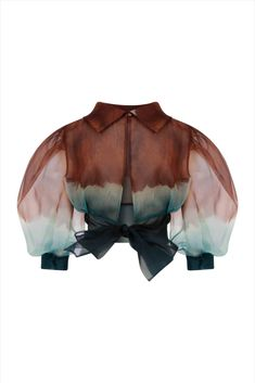 Organza Puff Sleeve Crop Top With Bow Tie Back Suit Fashion, Teen Fashion Outfits, Mode Outfits, Fashion Design Portfolio, Indian Fashion Dresses, Indian Wedding Outfits, Cute Casual Outfits, Swagg, Fashion Details
