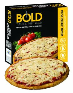 Bold Organics Vegan Cheese Pizza, 11.9 Ounce (Pack of 18)