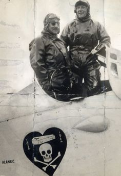 French pilots, Francois Coli, left, and Charles Nungesser, in the plane they attempted to fly from Paris to New York. The flight took off just 12 days before Charles Lindbergh's transatlantic solo flight made the record books. Bernard Decre, who is currently searching for the wreckage, believes the disappearance was a cover-up so not to distract from Lindbergh's achievement