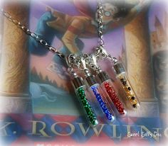 Harry Potter House Cup Necklace. Mine would be (1) Ravenclaw, (2) Slytherin, (3) Gryffindor, & (4) Hufflepuff