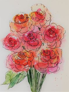 Red Roses 1 Art Print by Britta Zehm ee40e3b6e