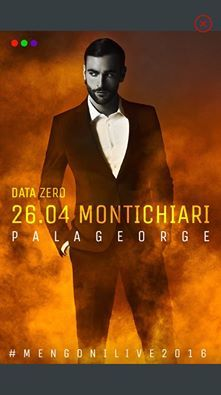 DATA ZERO MARCO MENGONI LIVE TOUR 2016
