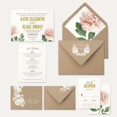 Your purchase includes one sample set, as pictured, mailed to you via USPS Priority Mail within 1-3 business days. Design pictured is the La Belle wedding invitation suite.  ------------------------------------------------------------------------------  If you are interested in placing a custom order, Id love to hear from you! Please visit my website for pricing and ordering information: www.oakandorchid.com…