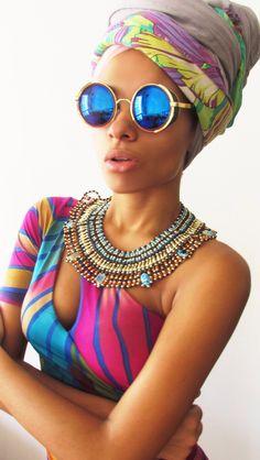 Ebony style | headwrap &shades