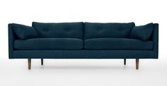 Browse mid century modern sofas & couches to bring effortless style to your home. High Quality Furniture, New Furniture, Furniture Design, Article Sofa, Turquoise Sofa, Retro Sofa, Mid Century Modern Sofa, Scandinavian Furniture, Contemporary Sofa