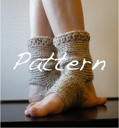 PATTERN:  Yoga Socks, Dance, Pilates, Ballet, Leg Warmers, easy crochet, pdf, ankle warmers, eggplant purple wine orchid, slouchy, dancer. $5.00 USD, via Etsy.