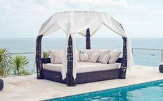 contemporary outdoor canopy bed DREAMSCAPE SKY LINE DESIGN