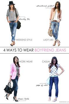 Boyfriend jeans style