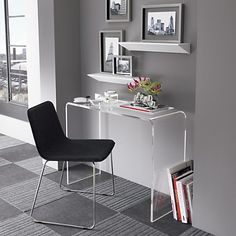 Pair this desk with grandad's office chairs with sheepskins on them.