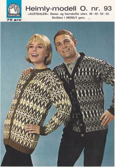 Austadalen 93 Hand Knitting, Knitting Patterns, Norwegian Knitting, Vintage Couples, Men Sweater, Husband, Retro, Sweaters, Craft Ideas