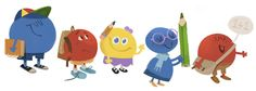 First Day of School 2012 [Начало школьных занятий] /This doodle was shown: 01.09.2012 /Countries, in which doodle was shown: Russia