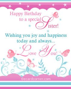 birthday greetings for sister | Birthday wish for sister