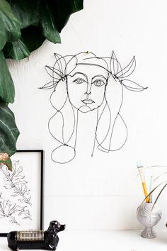 Picasso Inspired DIY Wire Portrait