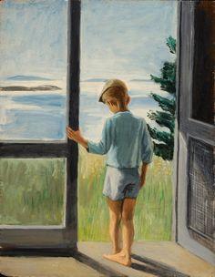 paperimages:    Fairfeild Porter, Boy in the Doorway c. 1948. The Parrish Art Museum