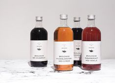 Logo and juice labels designed by Homework for Løgismose