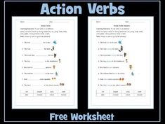 This is a sample worksheet on action verbs, involving choosing a verb to insert into a sentence. You may also be interested in: Action Verbs - Set of 6 Wor. Gcse Pe, Action Pictures, Powerpoint Lesson, Nouns And Verbs, Verb Worksheets, Action Verbs, English Resources, Guided Reading, Teaching Resources