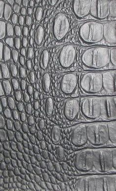 Crock Black Faux Leather Fabric