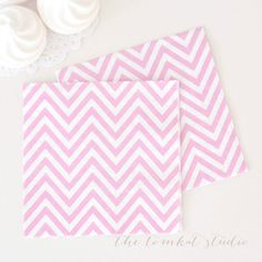 Chevron Napkins - Light Pink for $7.99 from The TomKat Studio Party Shop