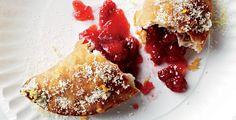 Home-fried strawberry moonshine pie from Garden & Gun
