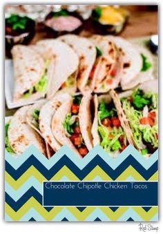 Chocolate Chicken Tacos!