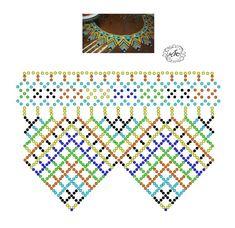 Foto Natali Khovalko Diy Necklace Patterns, Beaded Jewelry Patterns, Beading Patterns, Beading Techniques, Beading Tutorials, Bead Loom Bracelets, Bijoux Diy, Seed Bead Jewelry, Ceramic Beads