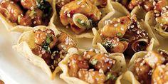Coupelles de poulet au miel et au sésame à la général Tao